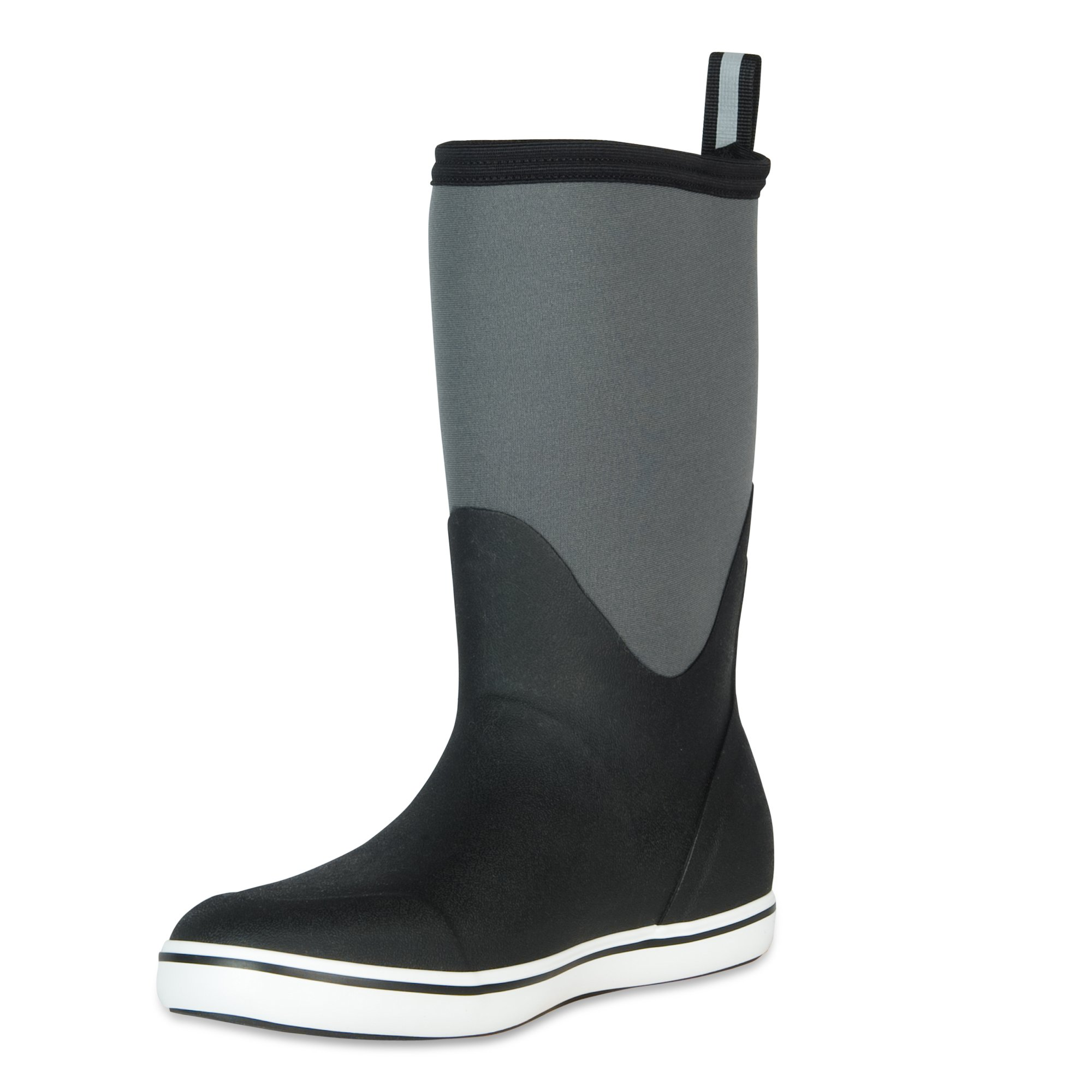 XTRATUF Performance Series 12'' Men's Neoprene & Rubber Deck Boots, Black & Castle Rock (22603)