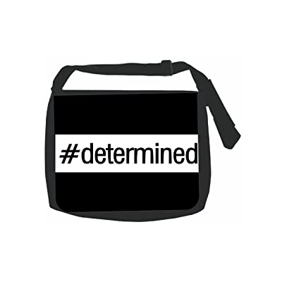 #Determined - Hashtag - Black School Shoulder Messenger Bag