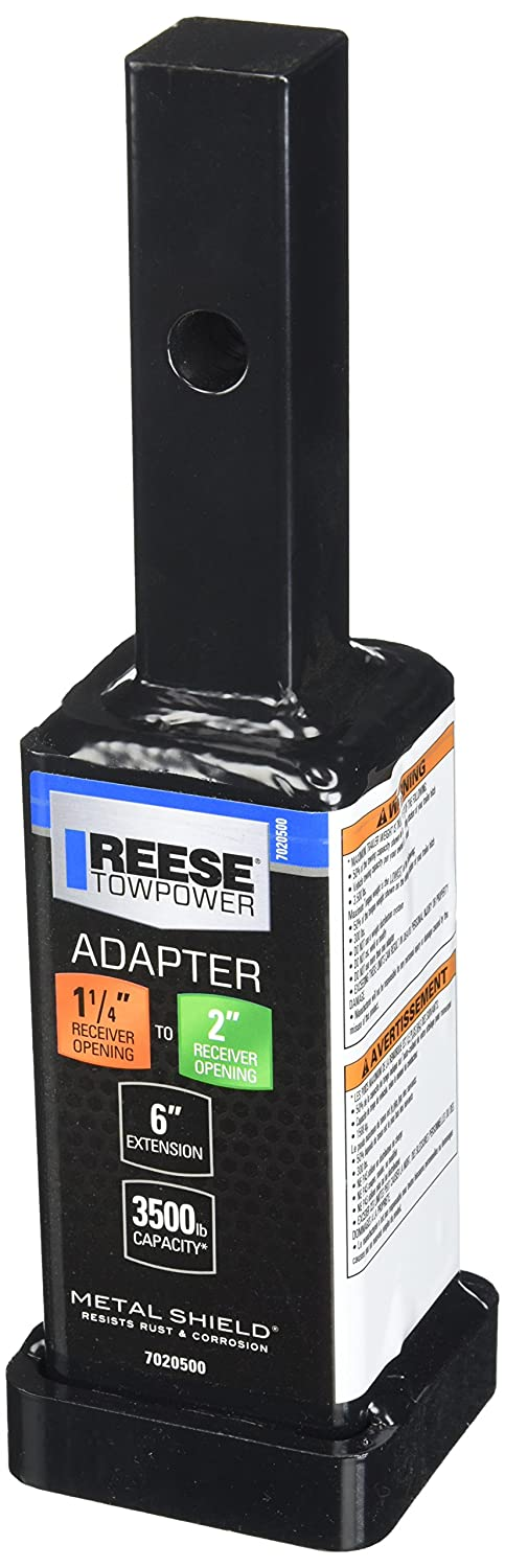 6 Long Reese Towpower 7020500 1-1//4 to 2 Receiver Adapter