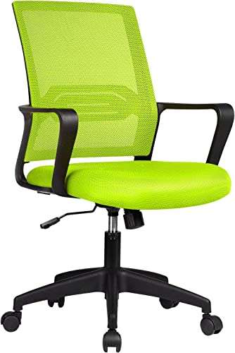 ComHoma Office Chair Ergonomic Desk Chair Mesh Computer Chair Mid Back Mesh Home Office Swivel Chair