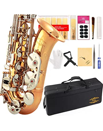Glory Gold/Silver keys E Flat Alto Saxophone with 11reeds,8 Pads cushions,