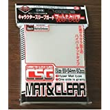 KMC FULL SIZE Character Guard HYPER MATTE CLEAR 1 Pk (60) Sleeves Mat Finish Sleeves for use with MTG Magic the Gathering, Po