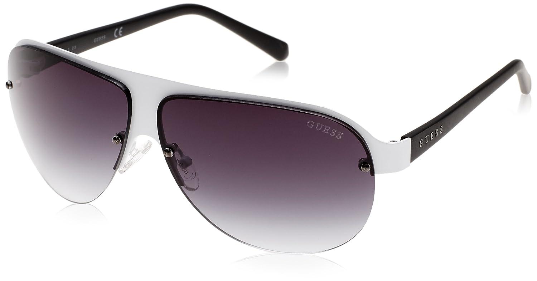 0af43e0254c Amazon.com: Guess GF0148-21B-64 Women's Semi-Rimless White ...