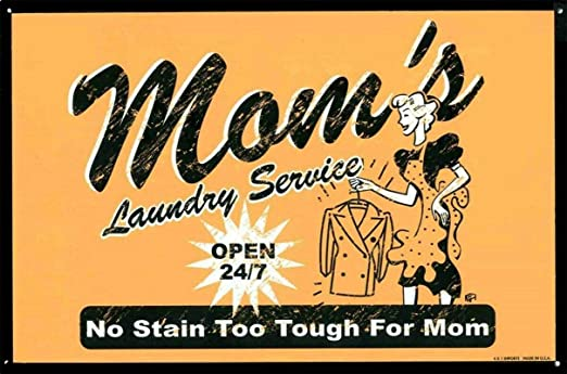 LORENZO MomS Laundry Vintage Metal Cartel de Chapa Pared ...