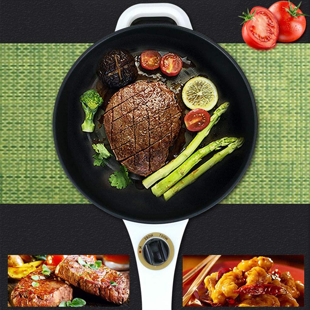 2L Electric Wok Versatile Mini Electric Hot Pot Dormitory Bedroom Stainless Steel Non-Stick Electric Cooker Use for Steak, Egg, Fried Rice, Ramen, Oatmeal by TSOICONN (Image #3)