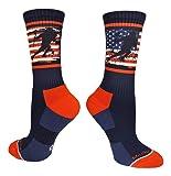 MadSportsStuff Crew Length USA Lacrosse Socks