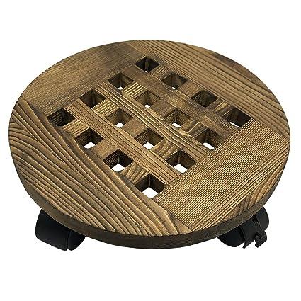 Amazon.com: MORINN - Soporte de madera para plantas de ...