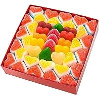 Regalos Originales para mujer y hombre. Tres (3) capas de chuches de corazones: 80 golosinas, 700 g.