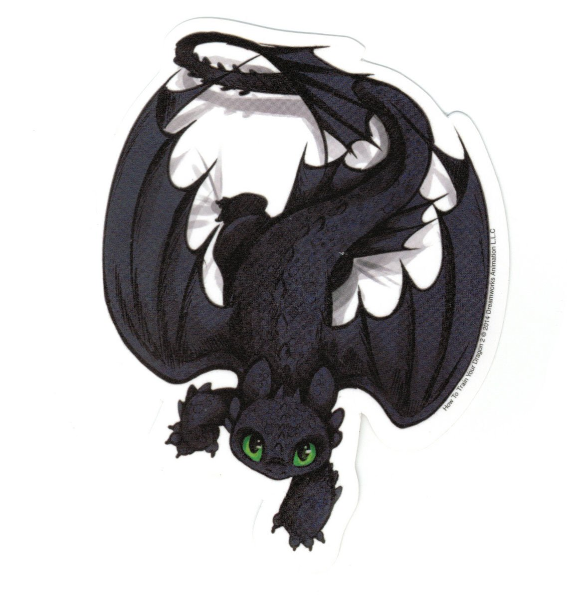Amazoncom How To Train Your Dragon 2 Crawling Toothless Sticker