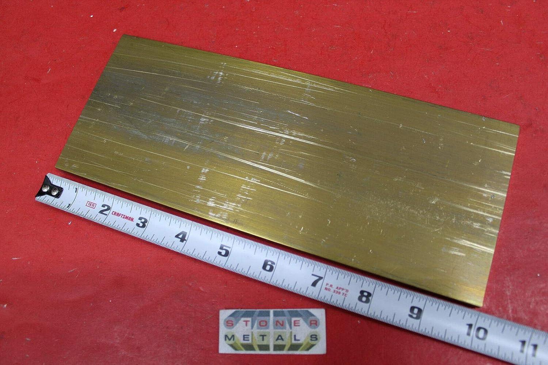 "1//4/"" x 1/"" C360 BRASS FLAT BAR 6/"" long Solid .25/"" Plate Mill Stock H02"