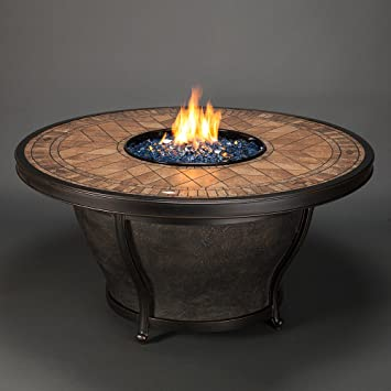 Agio Balmoral Gas Fire Pit With Copper Reflective Fire Glass