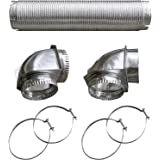 """Builder/'s Best 111718 4/"""" x 8ft UL Transition-Duct Single-Elbow Kit"""