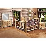 Amazoncom Red Cedar Log KING SIZE 5 pc Bedroom Furniture Set