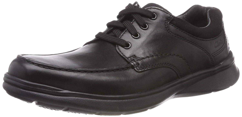 Clarks Cotrell Edge, Zapatos de Cordones Derby para Hombre 44.5 EU|Negro (Blk Smooth Lea -)