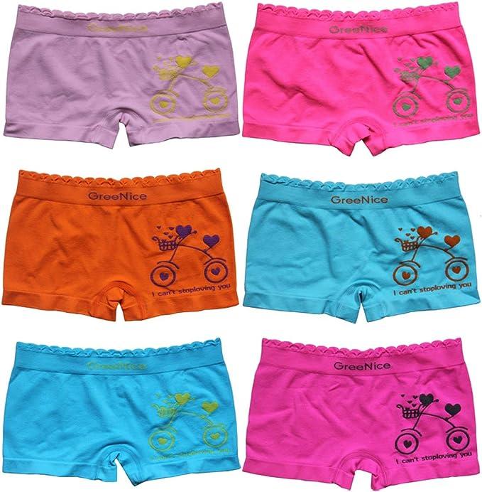 Mädchen Slips Gr 100-140 Kids Bio-Baumwolle Unterwäsche Panty 5x Boxershorts
