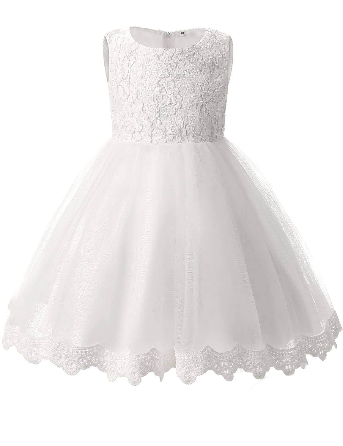 ca22effddd6 Amazon.com  TTYAOVO Girls Lace Tulle Flower Princess Party Toddler and Baby  Girl Dress  Clothing