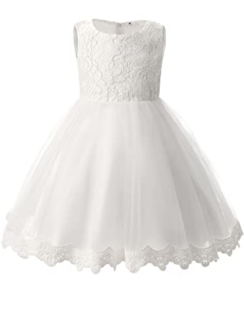 3658d41b352 TTYAOVO Girls Lace Tulle Flower Princess Party Toddler and Baby Girl Dress  Size 0-3