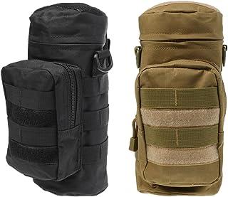 Sharplace 2 x Sac Bouteille D'eau Pochette avec Fermeture à Glissière Style Militaire Tactical en Nylon pour Camping Randonée Escalade Sport de Plein