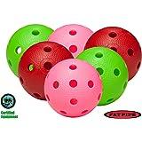 FAT PIPE Floorball Ball 6 Set, Mélange De Couleur