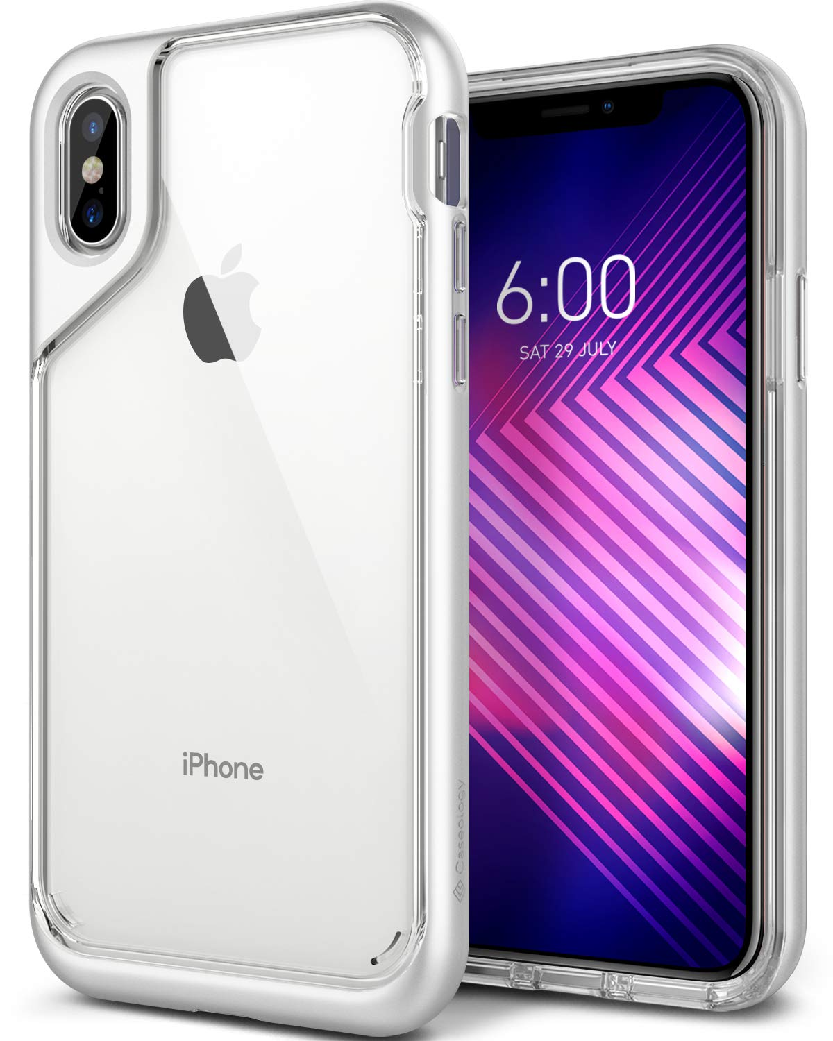 Caseology [Skyfall Series] iPhone X Case - [Clear Back/Premium Finish] - Blanc CO-IPX-SKY-WH