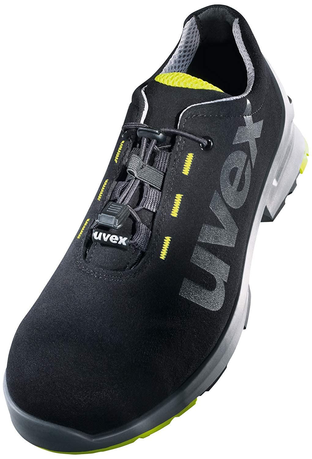 Safety Trainer S2 SRC ESD Toe Cap Non-Slip Outsole Lime-Black Uvex 1 Lightweight
