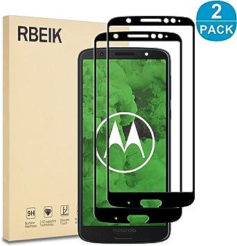 RBEIK Moto G6 Plus - Protector de pantalla de cristal para ...