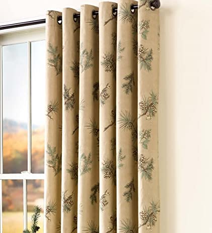 Thermalogic Insulated Peaceful Pine Grommet Top Curtain Pair, ...