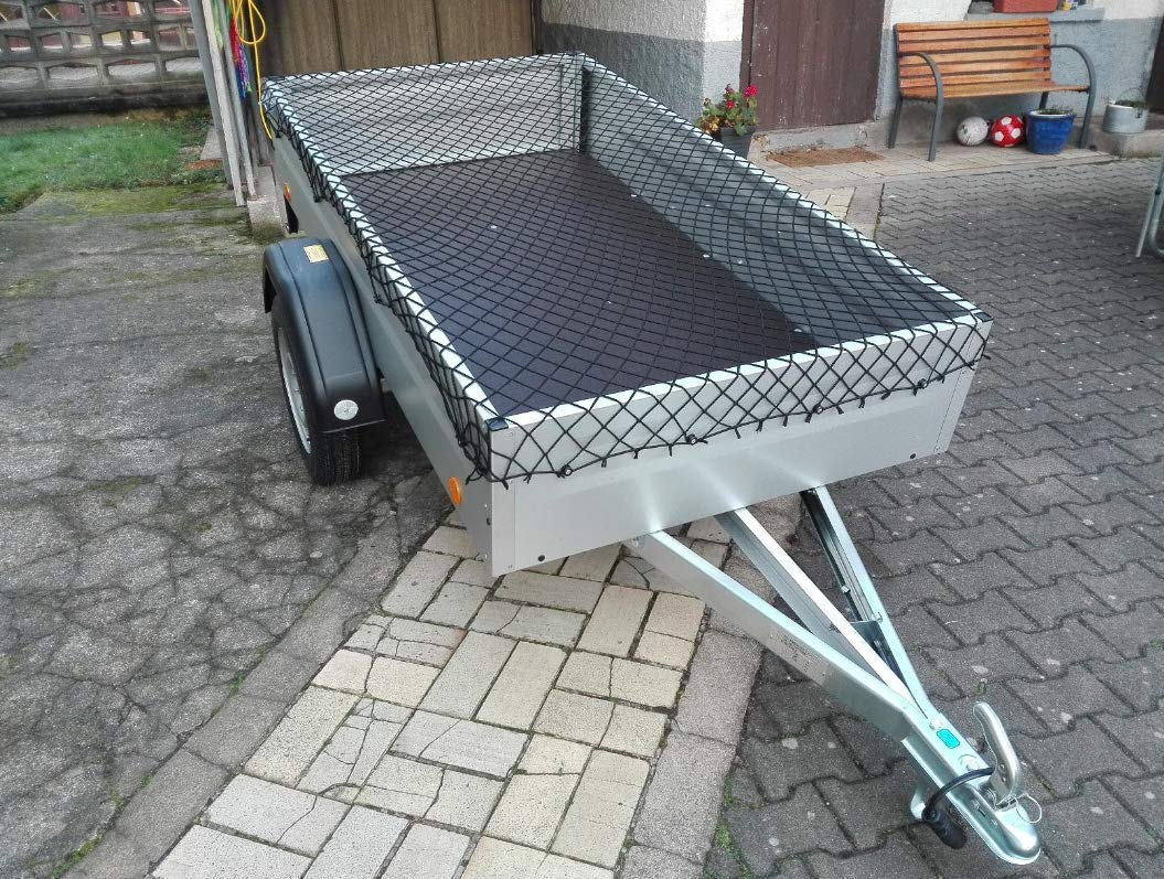 Trailer Net,Trailer Covers,Cargo Luggage Net,Skip Nets,125 x 210 cm Stretches to 200 x 300 cm,Cord Hook 6pcs