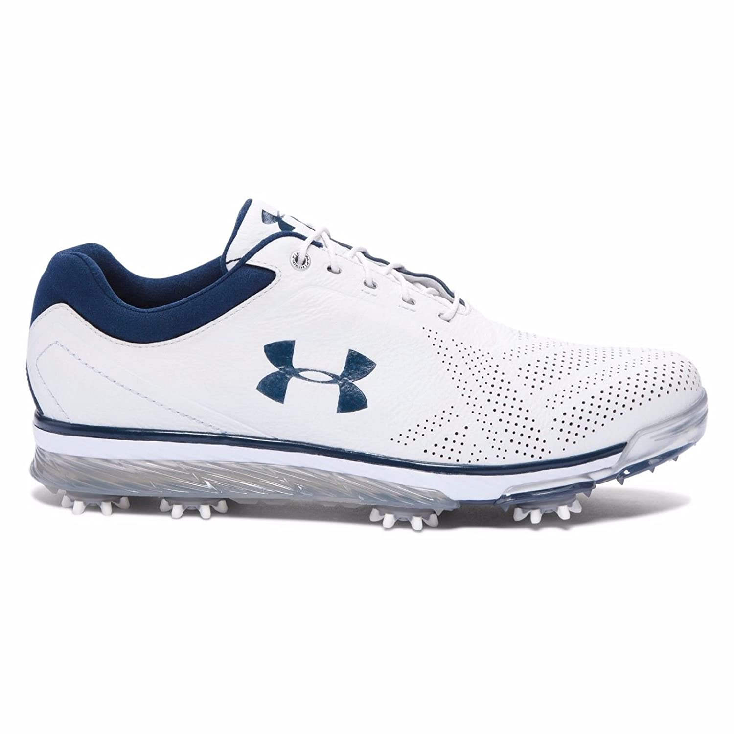 【New Color (5Colors) 】Under Armour Tempo Tour Golf Shoes (アンダーアーマー テンポツアー /ジョーダンスピース ゴルフシューズ)#1270205 (White / Navy, 30cm(US12)) [並行輸入品]   B0728MFHRM