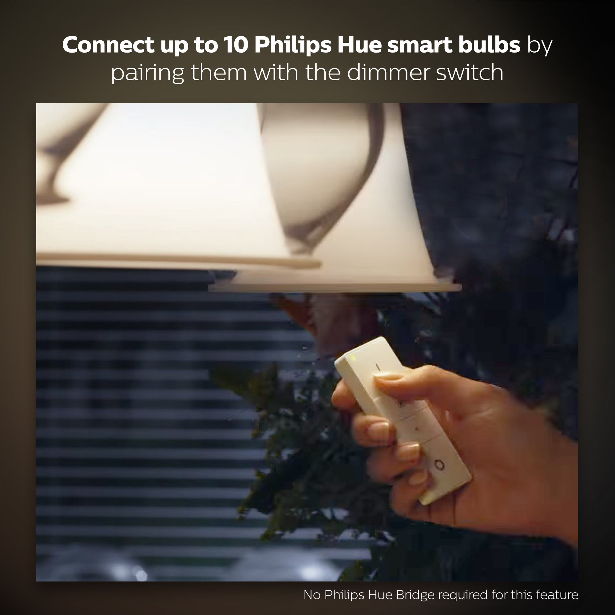 Philips Hue Smart Dimming Kit (Installation-Free  Exclusive for Philips Hue Lights  Works with Alexa  Apple HomeKit  and Google Assistant) by Philips Hue (Image #4)