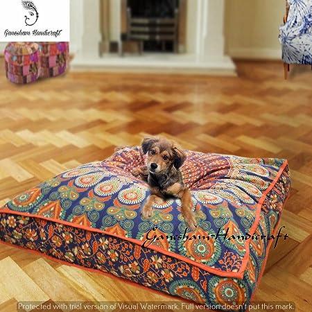 Indian Bohemian tapestry, square meditation cushion, boho floor ...