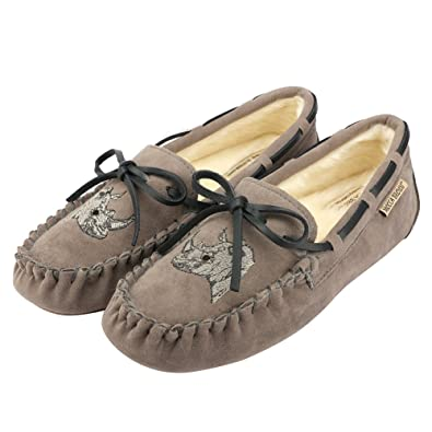 MOCCA BROWN Womens Indoor Outdoor Faux Fur Moccasin Slipper Loafers Flats Shoes W/Memory Foam