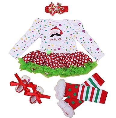 FEOYA - (juego de 4)Falda Bebés Tutú Niñas Vestido para Recién Nacidos Puntos