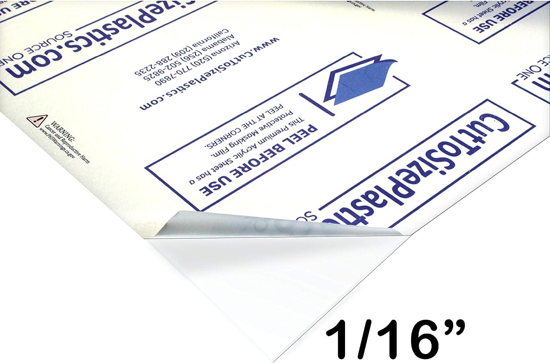 Source One Premium 1/16 Clear Acrylic PlexiGlass Sheet 12 x 12 Inches - THIN (6-Pack) …