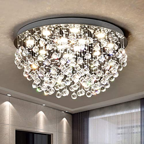 Saint Mossi Modern K9 Crystal Chandelier Lighting Flush Mount LED Ceiling Light Fixture Pendant Chandelier