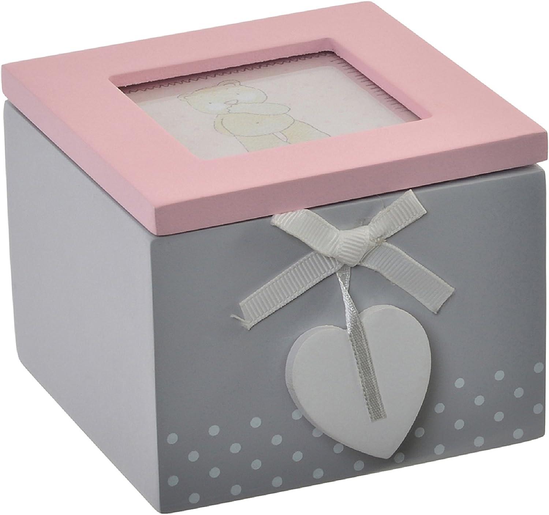 Item Caja Infantil Y Portafotos, Madera, Gris, 8x10x10 cm: Amazon ...