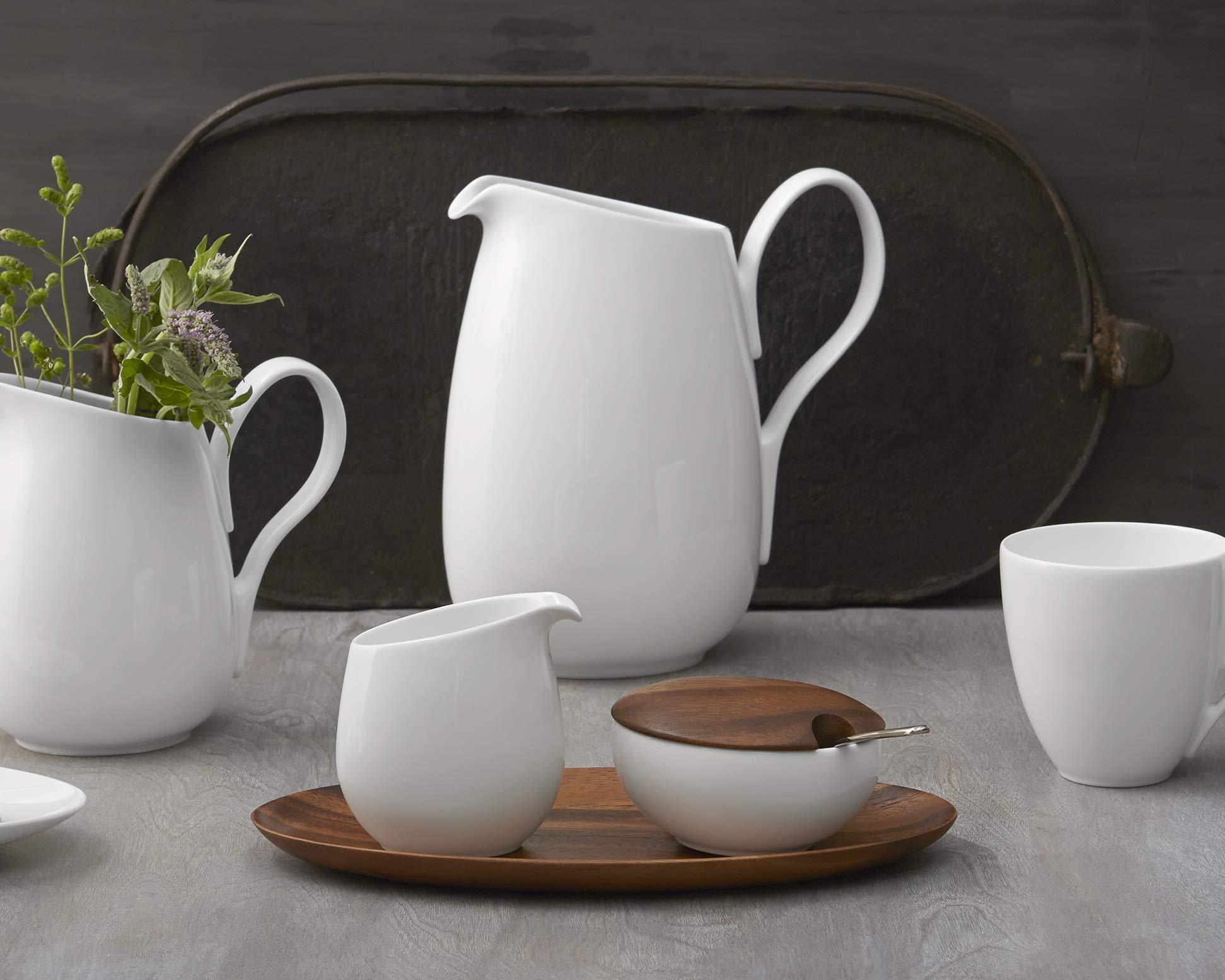 Nambé MT0866 Skye Sugar Creamer Set, Bowl: 4.5'' L x 3'' W x 2.75'' H, (1) Pitcher: 3.5'' L x 2.75'' W x 4'' H, (1) Serving Tray: 11.25'' L x 5.25'' W x 0.75'' H, White by Nambé (Image #2)
