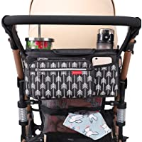Lekebaby Baby Stroller Organiser with Insulated Cup Holders Universal Stroller Accessory for Parents On-The-go, Stroller…
