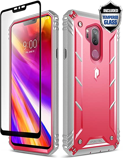 LG G7 Case, LG G7 ThinQ Rugged Case, Poetic Revolution [360 Degree  Protection] Full-Body Rugged Heavy Duty Case [with Tempered Glass] for LG  G7 ThinQ