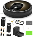 iRobot Roomba 980 Vacuum Cleaning Robot + 2 Dual Mode Virtual Wall Barriers (With Batteries) + Extra Side Brush + Extra HEPA Filter + Manufacturer's Warranty + More