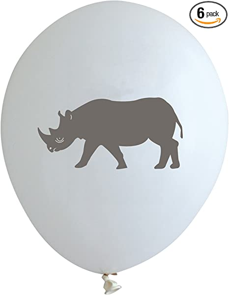 6 Safari Wild Animal Party Celebration Rhino Invites