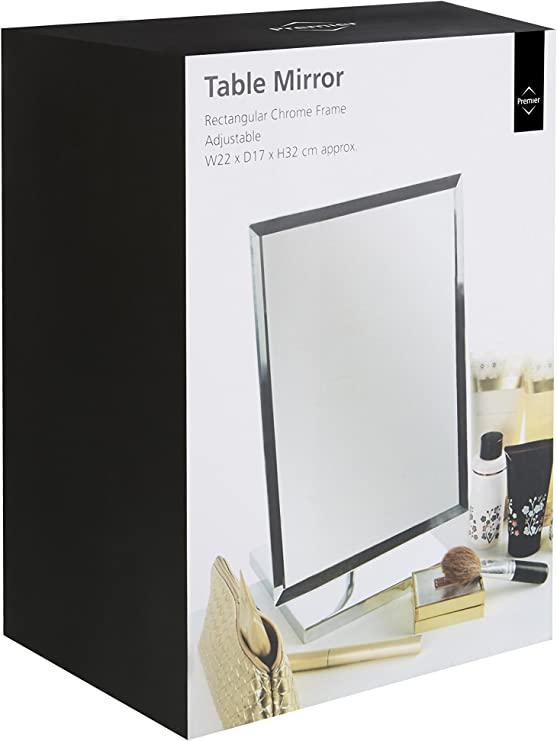 Decor Home Kitchen Newsmada Com Premier Housewares Large Rectangle Free Standing Adjustable Mirror Standing Travel Or Bathroom Mirror Champagne Gold White Champagne Gold 30cm Uptodate