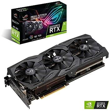 ASUS ROG STRIX GeForce RTX 2060 Overclocked 6G GDDR6 HDMI DP 1 4 Gaming  Graphics Card (ROG-STRIX-RTX-2060-O6G)