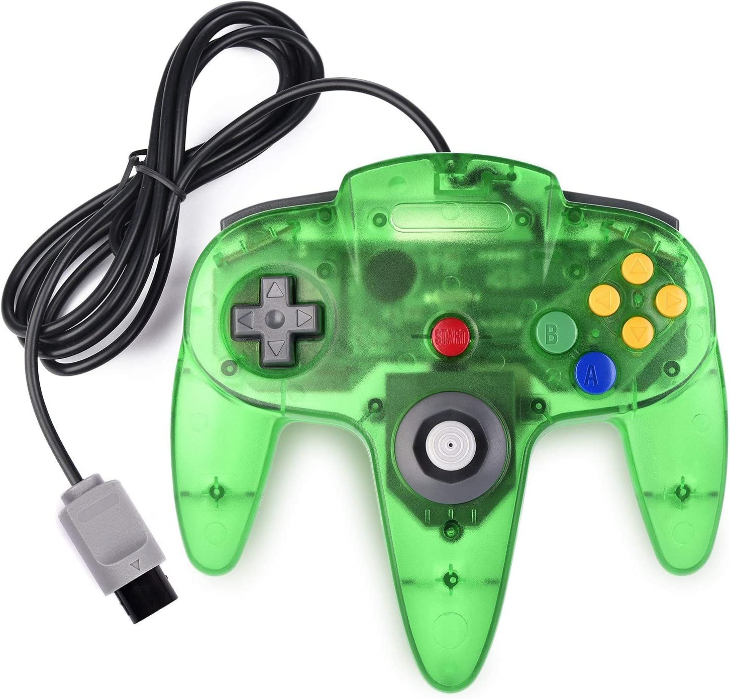 miadore Classic N64 Controller Joystick Remote for N64 Video Game System N64 Console-Jungle Green