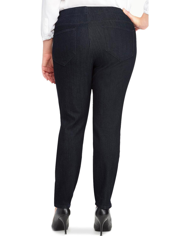 NYDJ Women's Plus-Size Poppy Pull On Jeans, Dark Enzyme, 20W