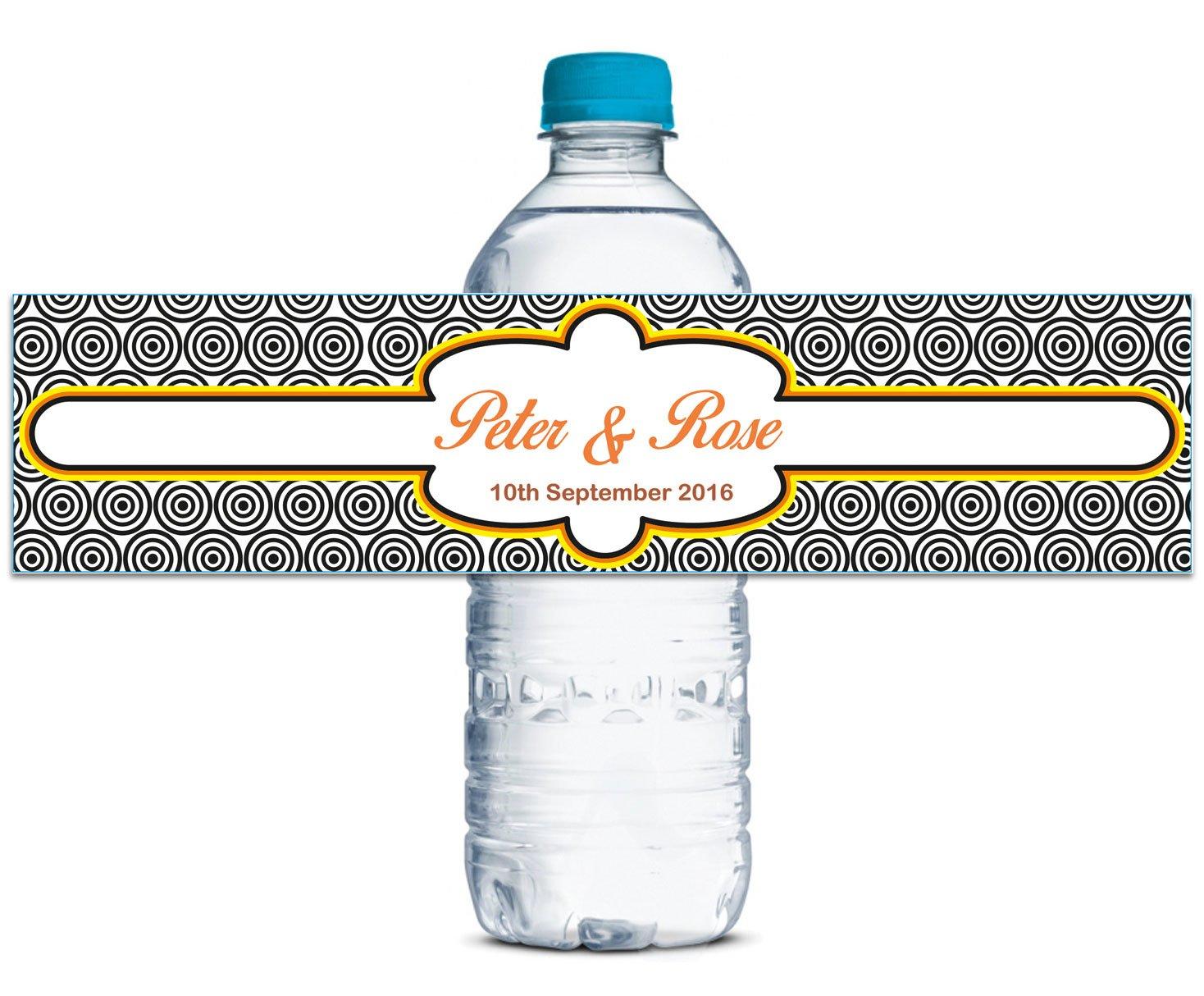 Wedding Water Bottle Label Personalized Stickers Stickers Stickers Custom Waterproof Adhesive Labels 8  x 2  Inches - 70 Labels B013UV8DSG | Viele Stile  8e4830