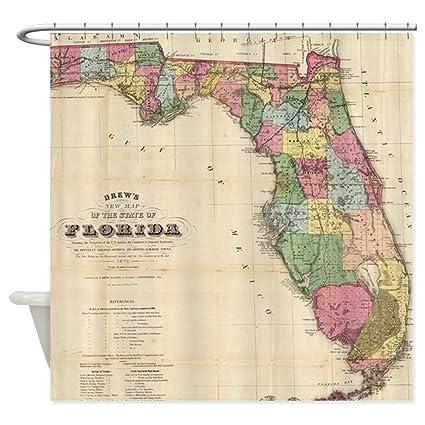 Amazon CafePress Vintage Map Of Florida 1870 Decorative