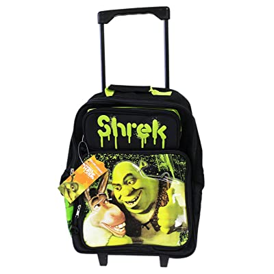 Donkey & Shrek Best pals Rolling Backpack School Luggage Bag: Toys & Games
