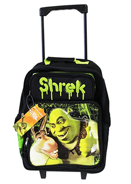 6bbed29c4a31 Donkey & Shrek best pals Rolling Backpack School Luggage Bag