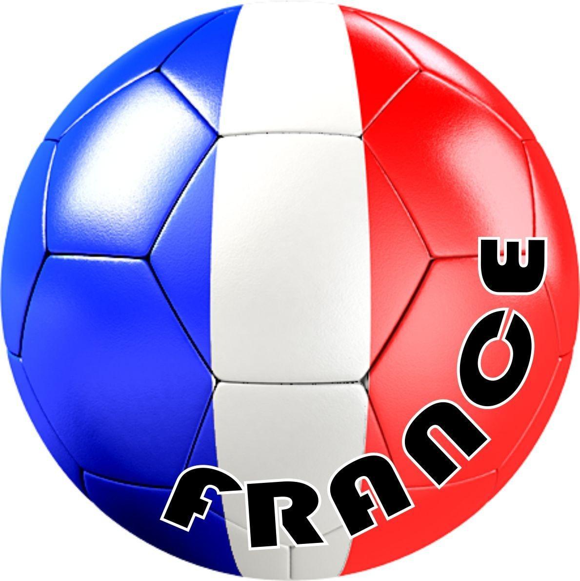 Akachafactory autocolant Sticker Equipe Voiture Moto Football Drapeau Sport Ballon Foot France